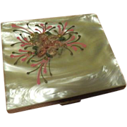 Mother of Pearl with Flowers Compact - b63