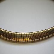 Vintage Art Deco 1930's-1940's 12K GF Forstner Gaspipe Necklace