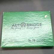 SOLD Autobridge Advanced Play Yourself Bridge Game 1957 Green Box