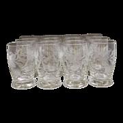 REDUCED Fostoria Arvida Cut Flat Juice Glasses Set of 12