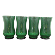Forest Green Juice Tumblers Glasses Set of 4 Anchor Hocking