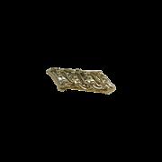 Gold Tone Swoosh Bar Pin Pendant