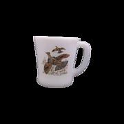 Fire King Game Birds Ruffled Grouse Mug