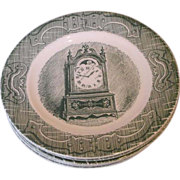 The Old Curiosity Shop Royal China Green Bread Plates