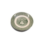 Old Curiosity Shop Saucers Green Royal China