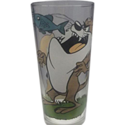 Tasmanian Devil Porky Pig Looney Tunes Glass Pepsi 1976