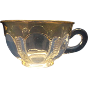 Iowa US Glass Punch Cup EAPG Gold Flashed