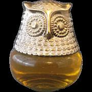 Avon Owl Bottle Roses, Roses 4 Oz Cologne Gelee 1974