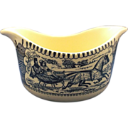 Royal China Currier Ives Blue Gravy Boat