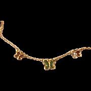 Monet Butterfly Butterflies Enamel Necklace