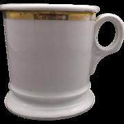 Porcelain Shaving Mug Gold Trim Germany Undecorated
