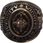 Wichita State 1968 Class Ring Men's 10K White Gold