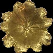 Virginia Metalcrafters May Apple Leaf Solid Brass Oskar Hansen 1948