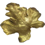 Virginia Metalcrafters Fig Leaf Solid Brass Oskar Hansen 1948