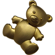 JJ Teddy Bear Pin Moveable Head
