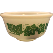 Hazel Atlas Ivy Green Milk Glass Mixing Bowl