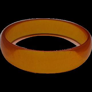 Orange Lucite Bangle Bracelet Translucent