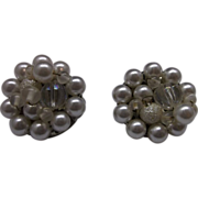 Japan Faux Pearl Clip Earrings
