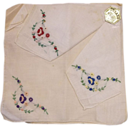 Orlana Swiss Style Kerchiefs Handkerchiefs Embroidered New Old Stock