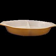 Pyrex Harvest Gold Divided Oval 1 Qt Dish