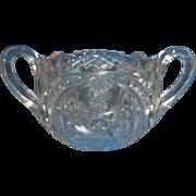 Indiana Glass Double Pinwheel Juno EAPG Open Sugar