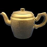 Sona Ware Hammered Aluminum Tea Pot Stratford on Avon England Art Deco