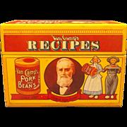Van Camp's Pork and Beans Recipe Box 1986