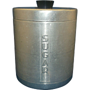 Spun Aluminum Sugar Canister Mid Century