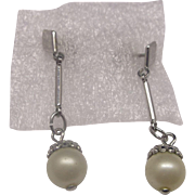 Faux Pearl Dangle Drop Earrings