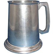 SALE PENDING Westminster England Pewter Stein Tankard Glass Bottom