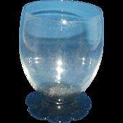 H C Fry Weston Black Amethyst Glass Petal Foot Tumbler Depression Glass