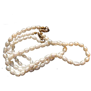 SALE Ringed Freshwater Circle Pearls 18 IN Necklace 7 IN Bracelet Set South Seas Tahitian