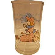 Holly Hobbie Juice Glass Tumbler Add A Little Love To All You Do Libbey