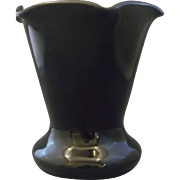 Black Amethyst Glass Crimped Top Vase Depression Westite Weston