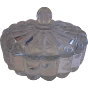 Heisey Crystolite Candy Dish Covered Round Box 7 IN Wide Elegant Depression