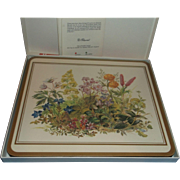 Pimpernel Casserole Stand Trivet New in Box Traditional Collection Meadow Flowers Botanical