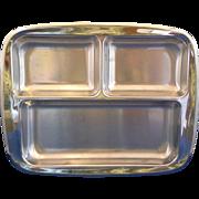 Cromargan Sweden Stainless Steel Divided Relish Rectangle Bowl WMF Midcentury Modern