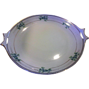 Hutschenreuther Selb Bavaria Pierced Handle Cake Plate Blue Hand Painted Forget Me Not Flowers