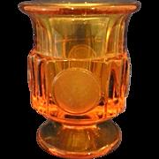 Fostoria Amber Coin Glass Cigarette Urn
