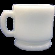 Hazel Atlas White Milk Glass Shaving Mug Large