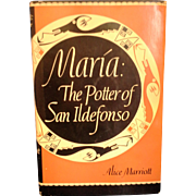 Maria the Potter of San Ildefonso Harcover 10th Edition 1978 Printing Artist Signed