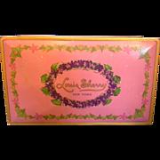 Beautebox Canco Louis Sherry Candy Box Tin Vintage 1920s Pink Purple