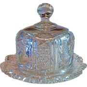 *Circa 1910: American Brilliant Period Cut Crystal Cheese Saver