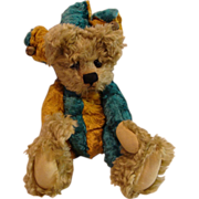 "Vintage : Early Cotswold Limited Edition "" Jester "" Teddy Bear"