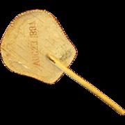 1884: Antique Handmade Birch Bark Hand Fan