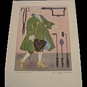 1950's: Medical Costume Prints, Signed by Warja Honegger Laveter