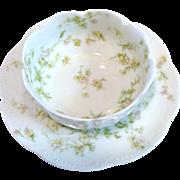 *Limoges Apple Blossom Finger Bowl and Under Plate