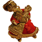 "1950's: Nostalgic Ami Koestel "" Madonna "" Wax Christmas Ornament * Very Rare *"