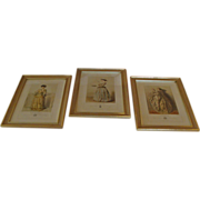 Three 19th Century Fashion Lithographs