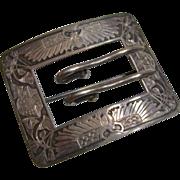 Circa 1900: Symbolic Sterling Egyptian Belt Buckle